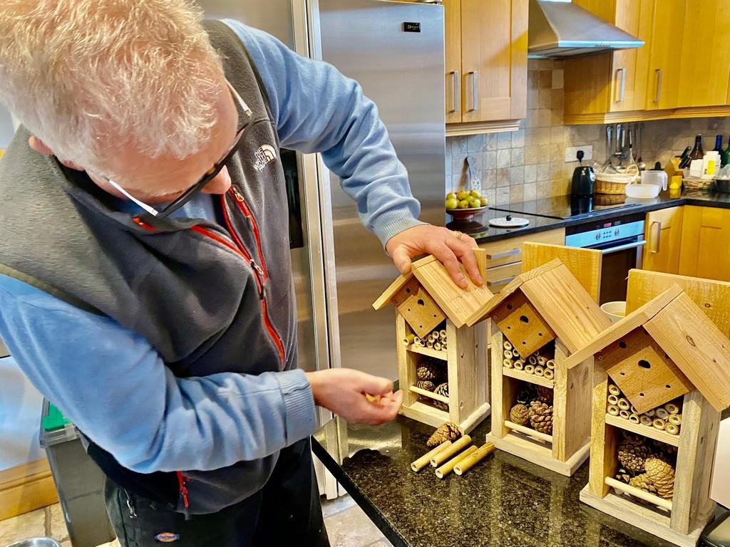 Gareth and bird boxes